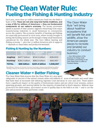 Sporting Industry Fact Sheet - Clean Water Rule