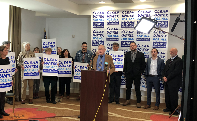 Protect Clean Water press conference in Kansas City -- 2/27/19